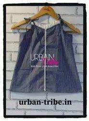 Urban Tribe Blue Stripe Frill Top