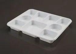 9 Compartment Rectangular Disposable Plastic Plate