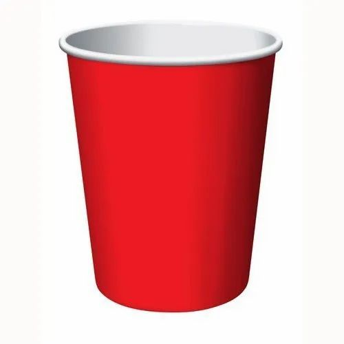 Plain Red Paper Coffee Cup, For Event, Capacity: 210 ML