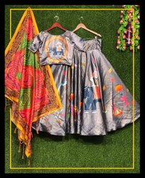 Party Wear Pink Banarasi Silk Jacquard Lehenga With Inner, Size: 28.0