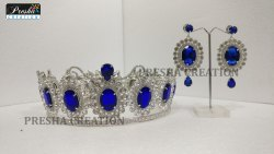 Peagent Crown With Earrings