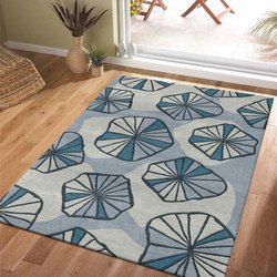 Fab Export International Rectangular Modern Dark Brown Designer Carpet, For Home & Hotel