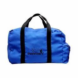 Polyester Blue Foldable Travel Bag