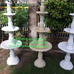 Modern White Marble Fountain, For Home, Garden