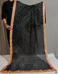 Traditional Silk Bandhani Dupatta