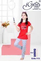 Multicolor Girl Kids Nightwear Set