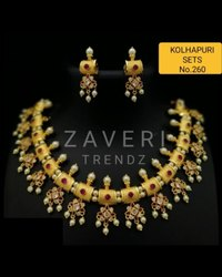 260 Kolhapuri Necklace Set