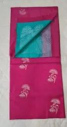Mulberry & Olympic Colors Silk Saree