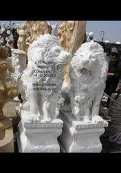 Lion Stone Sculpture Art