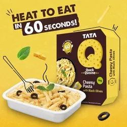 Tata Q Cheesy Pasta With Black Olives, 290g, Packaging Type: Packet