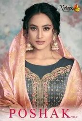 Poshak vol.2 - Diwali Collection Designer Gown With Bottom and Inner