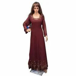 Maroon Long Ladies Gown