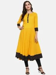 Cotton Printed Anarkali Kurta