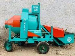 Diesel Engine RM800E Reverse Drum Mixer, For Construction