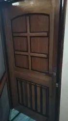 Brown Wooden Sagwan Door, For Home