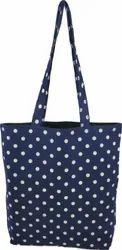 Green Craft Dotted Designer Polka dot Tote Bag