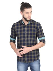 Guniaa 100% Cotton Mens Cheek's Casual Shirt