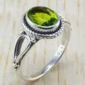 925 Sterling Silver Jewelry Peridot Gemstone New Fashion Ring Wr-6296