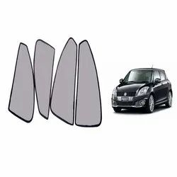 Grey Polyester Car Magnetic Curtain