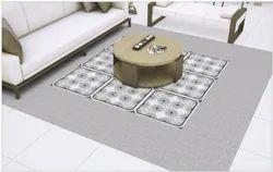 Satin Matt Series Digital Porcelain Tiles, For Flooring, Size: 600x600 mm