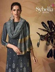Sybella Siphora 2101-2106 Series Viscose Banarasi Suits Catalog