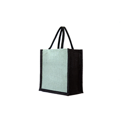 Plain Loop Handle Jute Shopping Bag, Capacity: 3 Kg