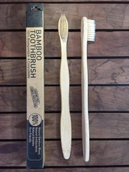 Bamboo Toothbrush with NATURAL BAMBOO FIBRE Bristles.