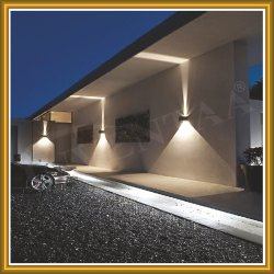 Inventaa Aluminium LED Wall Light Olly, For Outdoor Wall Light