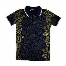 Casual Wear Half Sleeves Kids Collar Neck TShirt, Size: 3-5 Years
