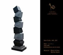 Black Marble Stone Abstracts