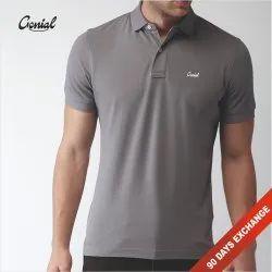 Male Plain Spun Matty Collar T-Shirt for Men (Spun Pique), Size/Dimension: XXS - XXL