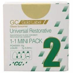 GC Fuji 2 Gold Label Universal Restorative Glass Ionomer Cement Mini Pack