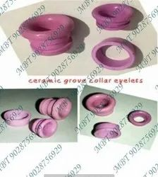 Pink Aluminum Oxide Ceramic Grove Collar Eyelets, Packaging Type: Box