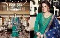 Naira By Zubeda Heavy Satin Georhette Salwar Suits Catalog