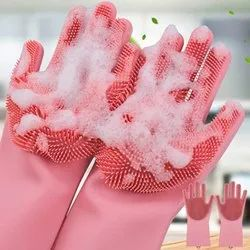 Dish Washing Gloves, Silicon Cleaning Gloves Multicolor - 1 Pair