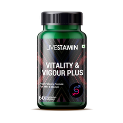 Livestamin Vitality and Vigour Capsules Herbal Extracts Supplement, Packaging Type: Bottle