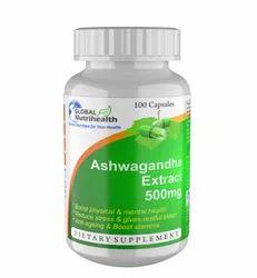 Global Nutrihealth Ashwagandha Extract 500 mg Capsules