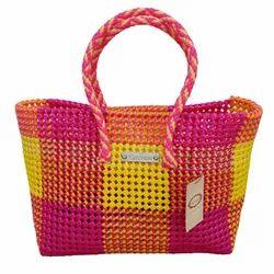 Wire Bags Pink-Yellow Handicraft Bag