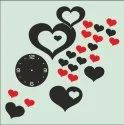 Black Analog Acrylic Wall Clock, For Anniversary Gift