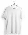 Plain Half Sleeve Mens White Round Neck T Shirt