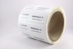 Label White Windshield TE, Packaging Type: Roll, Size: 96mm X 27mm