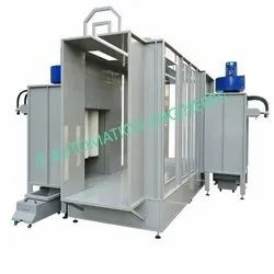 Steel Conveyorised Powder Coating Booth, Cross-Flow Type, Automation Grade: Automatic