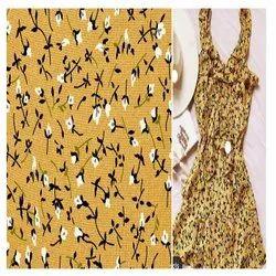 MIX Fox Georgette Digital Printed Fabric, For Garments, GSM: 100-150