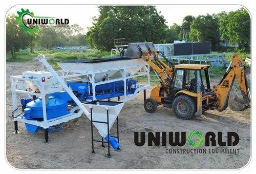 Pan Type  Batching Plant Uce-15  Turbo Pan Mixer