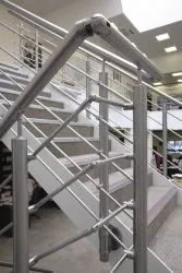 Bar And Panel Stainless Steel, Cast Iron Cross Stair Railing
