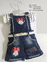 New Stylish Denim Dangri Set For Girls