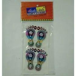 Premium Plastic Molded Laxmi Charan Sticker