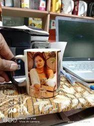 White Photo Printed Magic Mug, For Home Decore, Size: 300ml