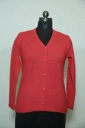 5003 Woolen Fancy V Neck Cardigan