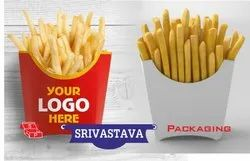 Duplex Printed Custamized French Fries box